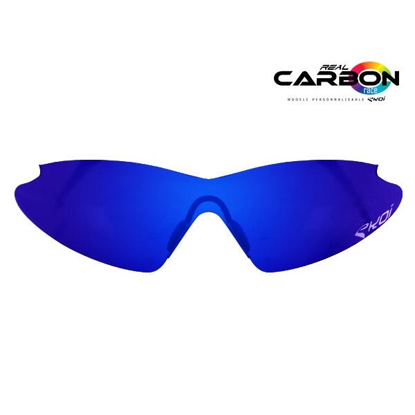 Brillelinser solaire revo blå EKOI REAL CARBON RACE