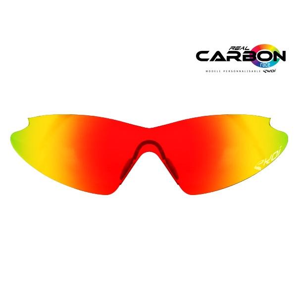 Solbrillelinser revo rød EKOI REAL CARBON RACE