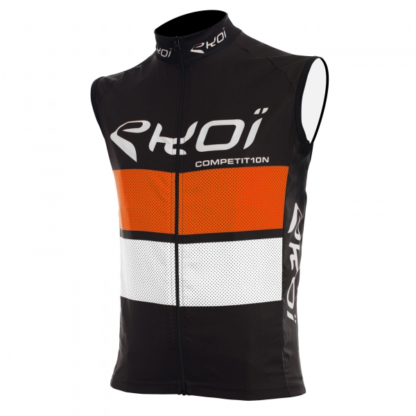Vindvest EKOI COMP10 sort orange/hvid