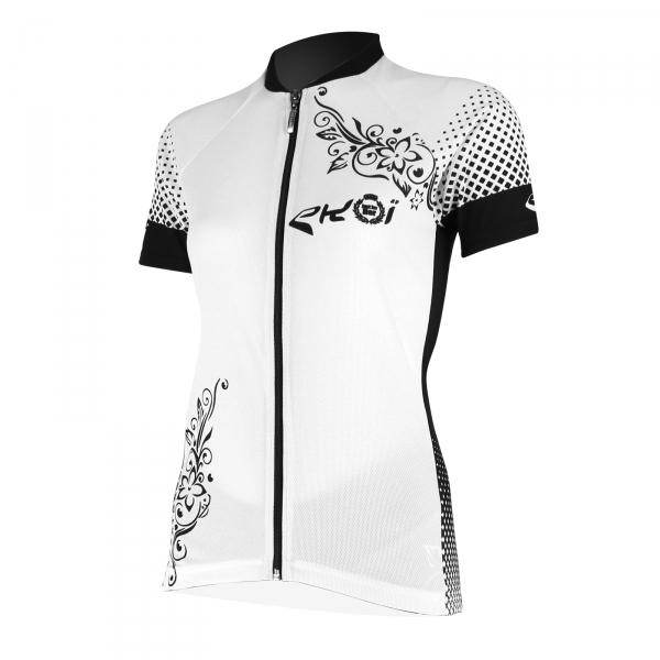 Cykeltrøje til damer EKOI JUST FOR HER 2017 med korte ærmer i hvid