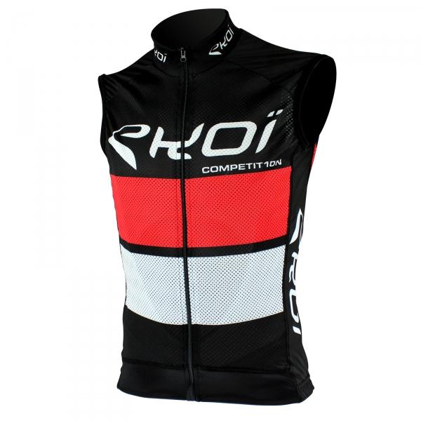 EKOI COMP10 trøje uden ærmer i Sort Rød/Hvid