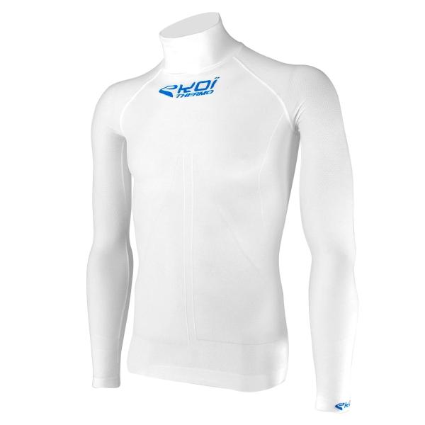 langærmet undertrøje EKOI ML TECH 3 med høj hals, hvid