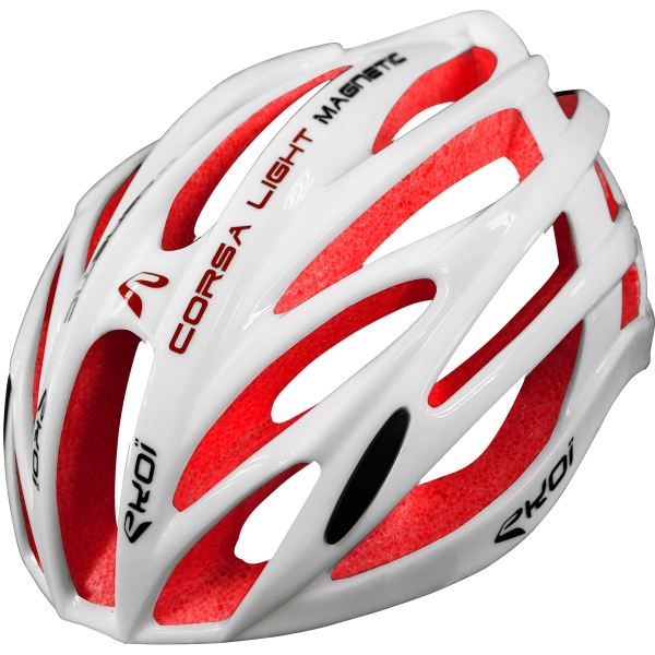 Casque EKOI CORSA LIGHT 1 Blanc Rouge