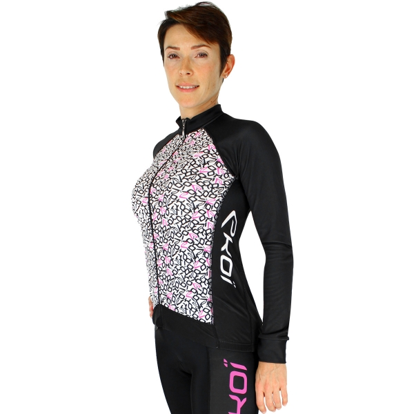 Trøje EKOI LADY Algoritmo-trøje sort/rosa