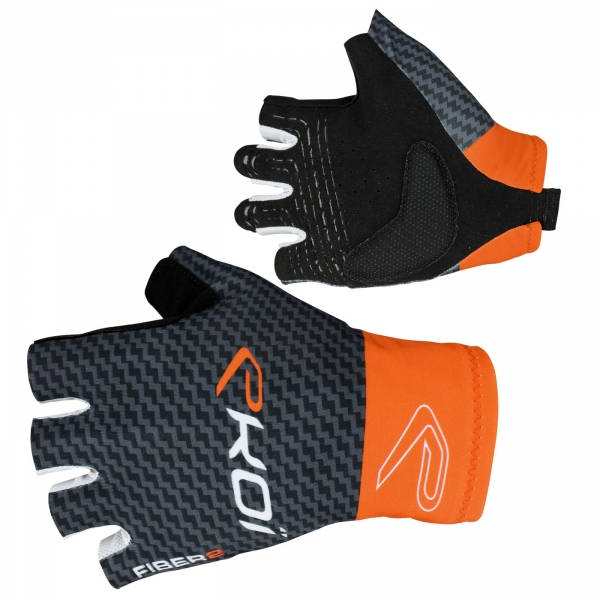 Gants été EKOI Carbon Fiber 2 Orange fluo